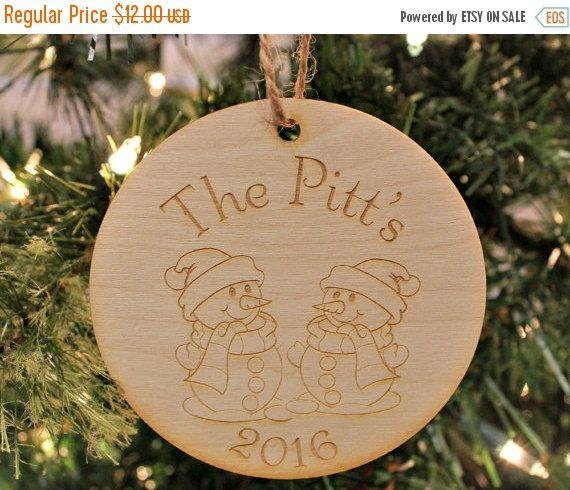 Couple Christmas Ornament, Personalized Wood Ornament, Couple\u0027s