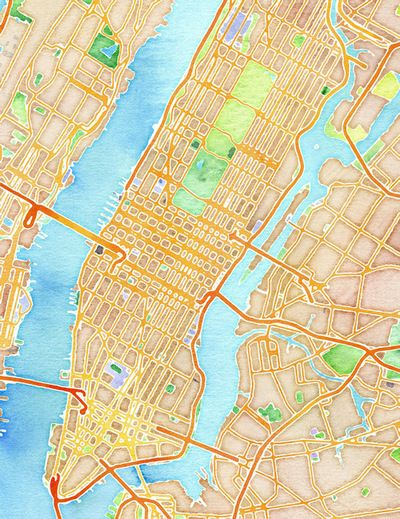 Nyc Map Quest.Watercolor New York By Stamen Design Map Quest Pinterest