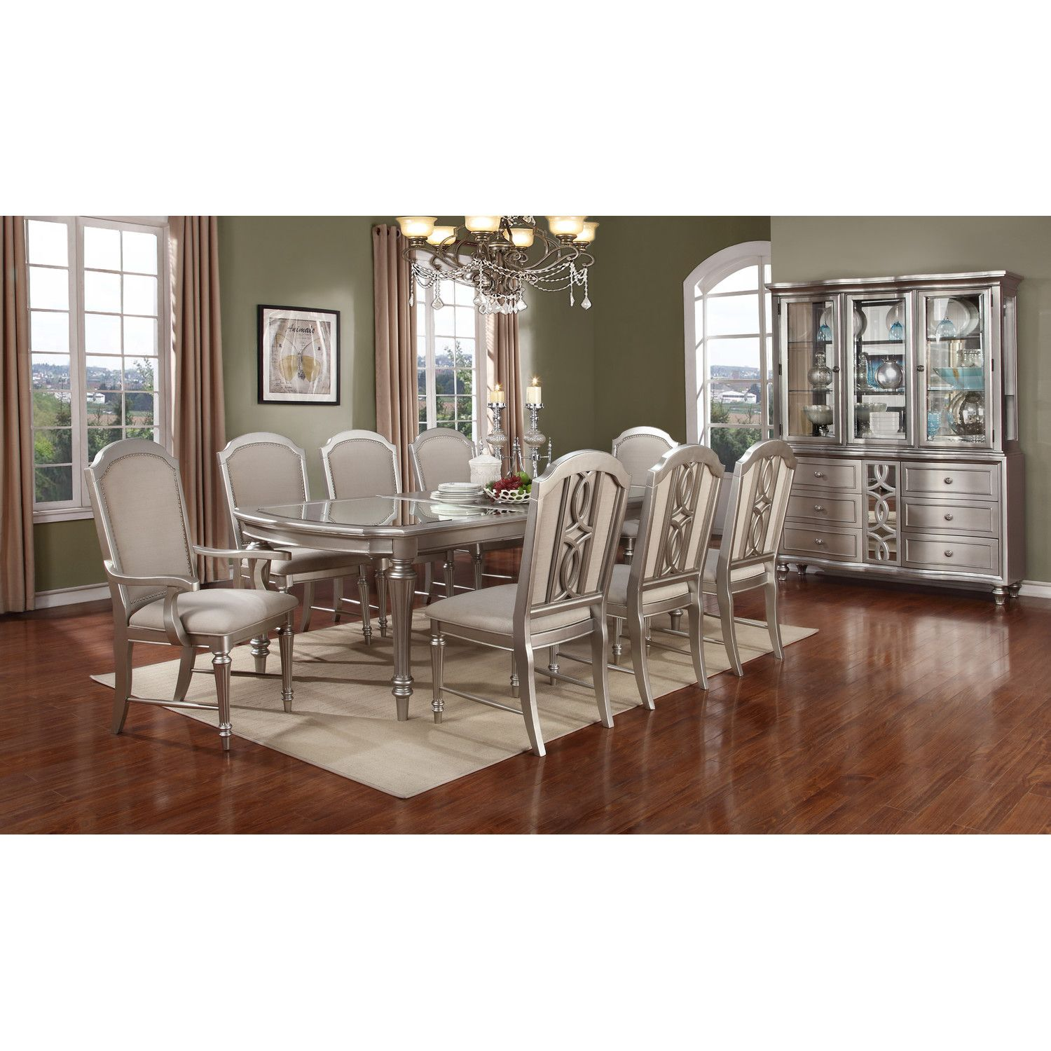 Avalon Furniture Regency Park 9 Piece Dining Set  Dream Dining Magnificent 9 Piece Dining Room Inspiration Design