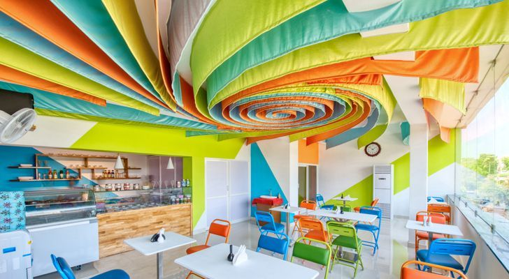 Architecture_Interspace designs an ice-cream parlour using ...