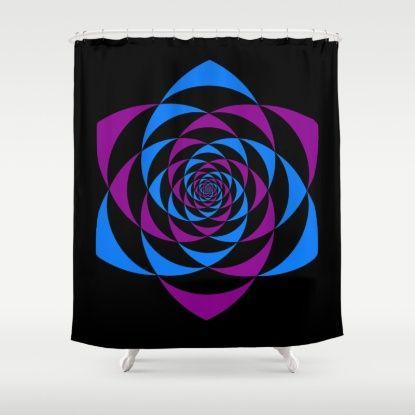 ENERGY FLOWER THROAT Shower Curtain