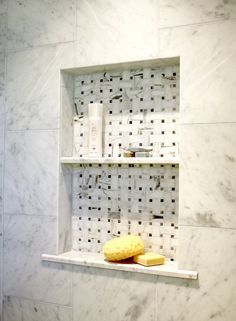 Marble Shower Niche  Boring, Too Simple, Area Sizes Stupid