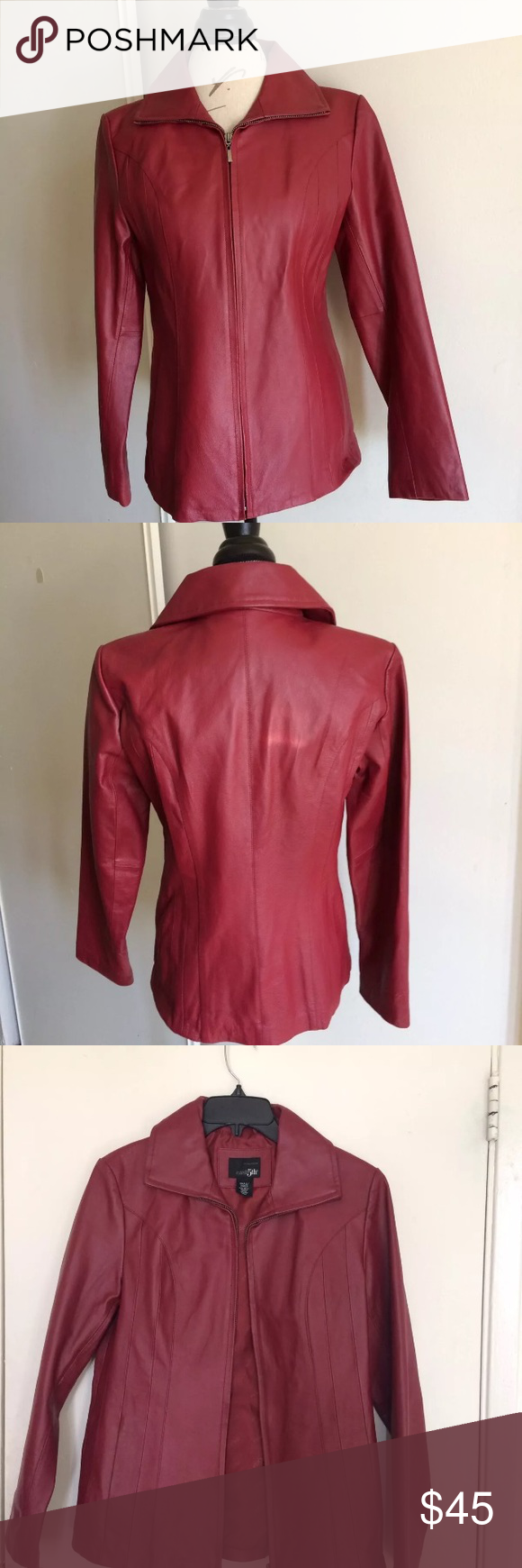 EAST 5TH Womens Red Burgundy Jacket Size Small EAST 5TH