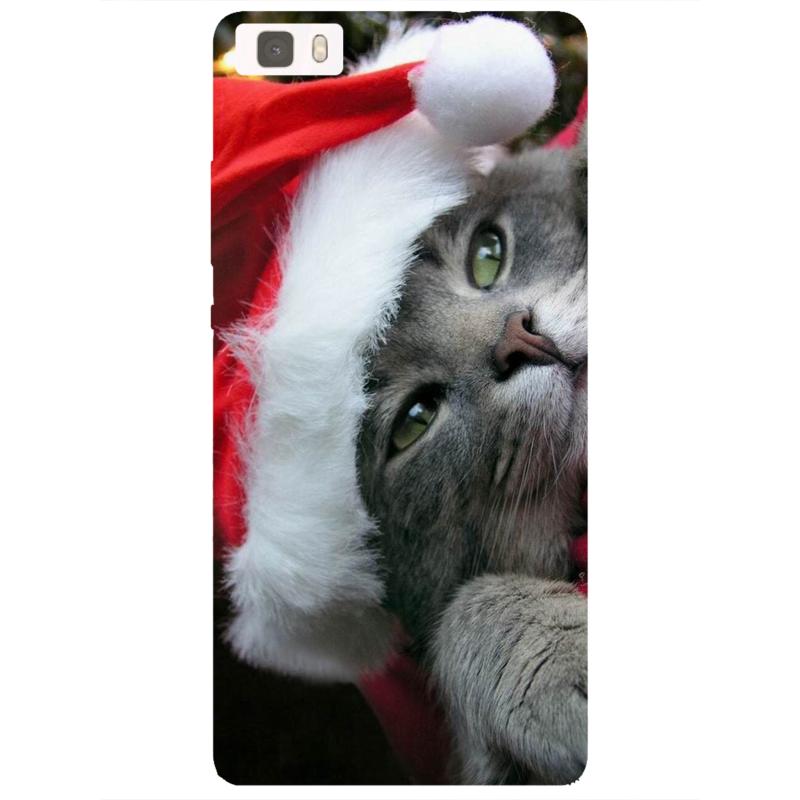 Coque Huawei P8 lite - Chat de Noël