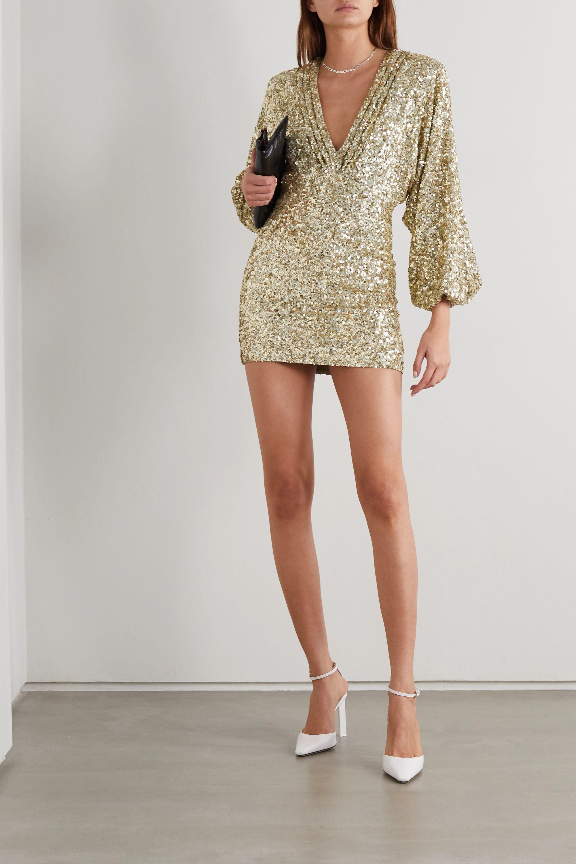 Graugrun Aubrielle Minikleid Aus Chiffon Mit Pailletten Retrofete Chiffon Mini Dress Clothes Retrofete [ 3000 x 2000 Pixel ]