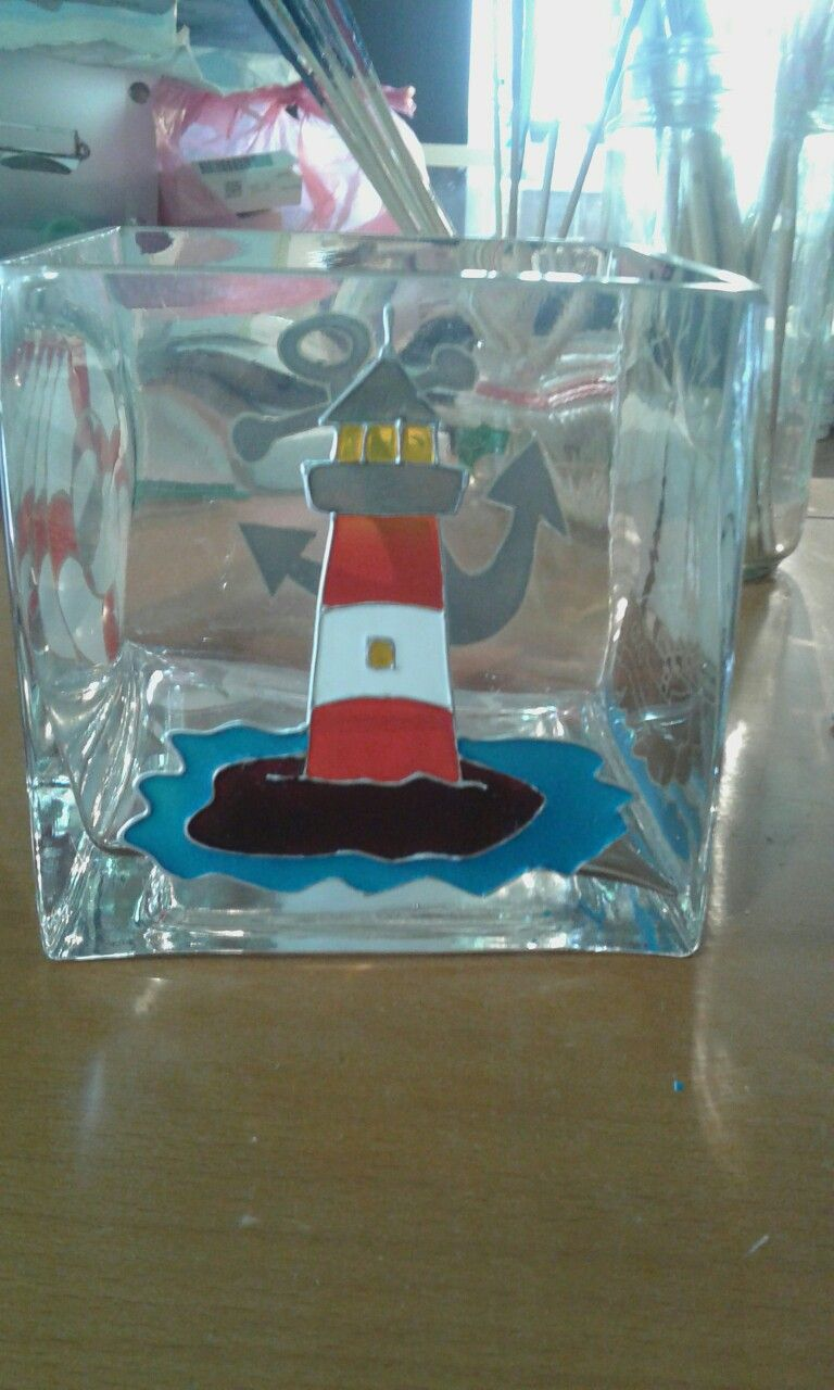 Light house on vase painting on glass pinterest house vase light house on vase painting reviewsmspy
