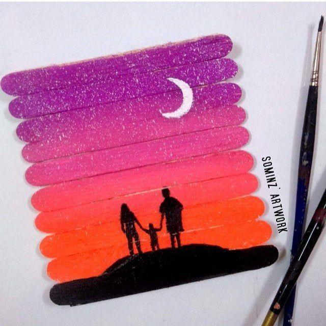 Instagram Photo By A R T Apr 30 2016 At 8 01am Utc Popsicle Stick Art Stick Art Popsicle Art