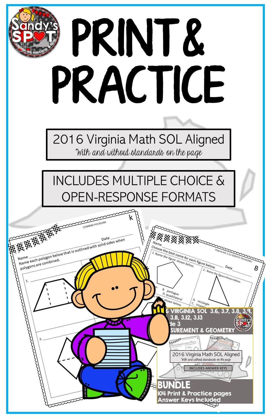 Ready To Print And Practice Virginia Sol Aligned