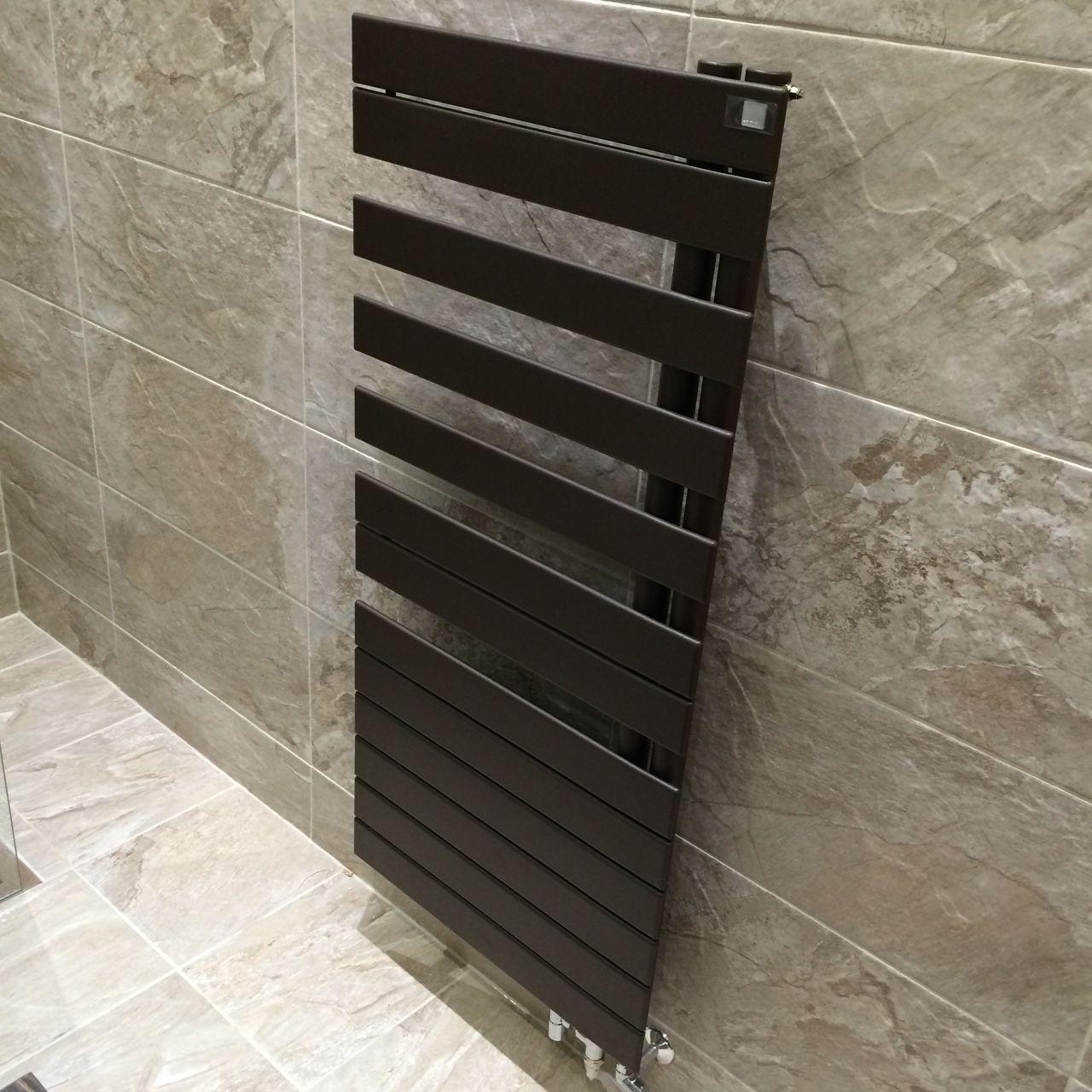 Towel Rail Zender Roda Spa Quartz Brown Tiles Waxman Ceramics