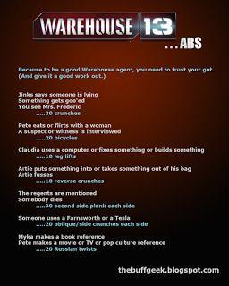The Buff Geek - Warehouse 13 workout