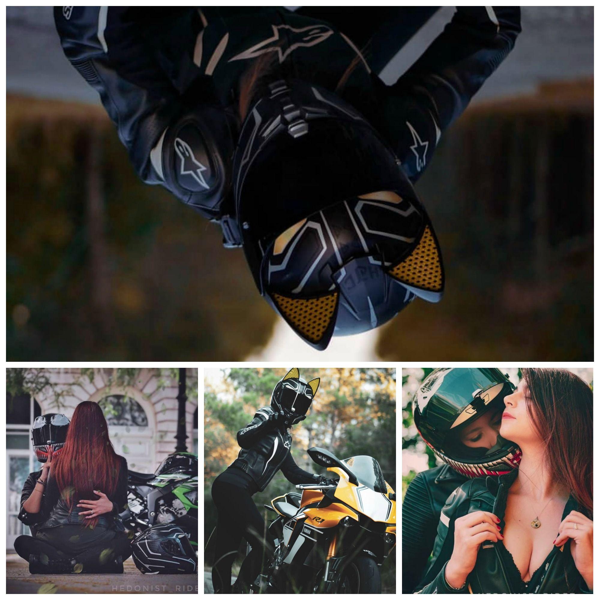 Black Panther HJC RPHA70 Cat Ear Helmet by hedonist_ridez