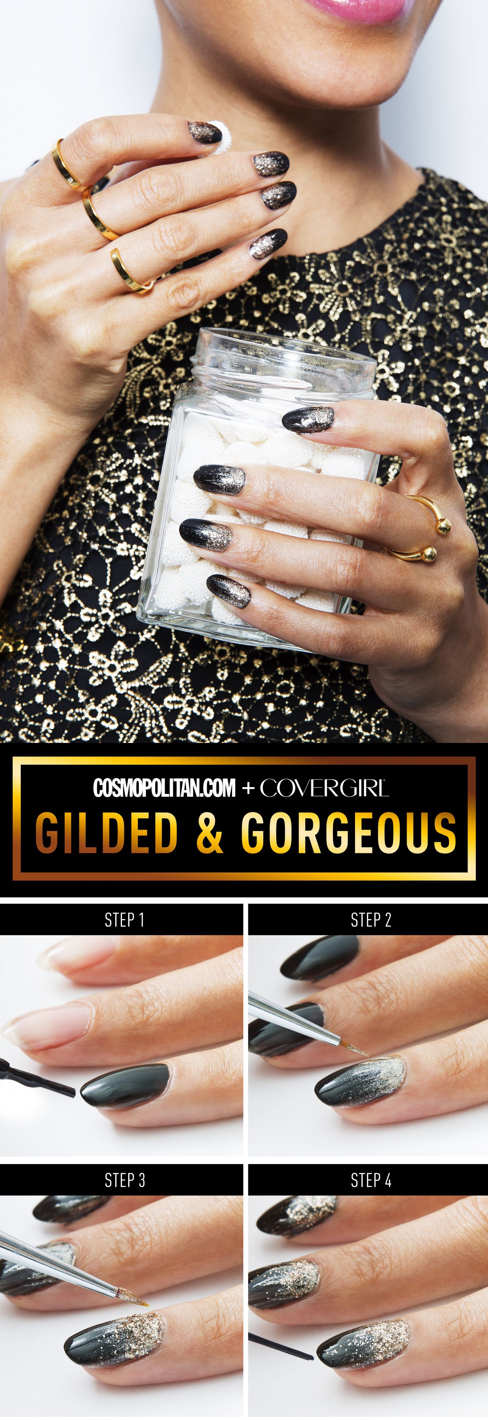 4 Stunning Nail Art Looks Perfect for New Year's Eve #nailnewyears