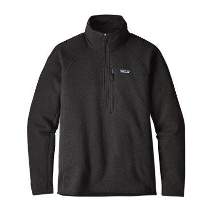 Photo of Patagonia Herren Leistung Besserer Pullover Quarter-Zip Pullover Schwarz XXL