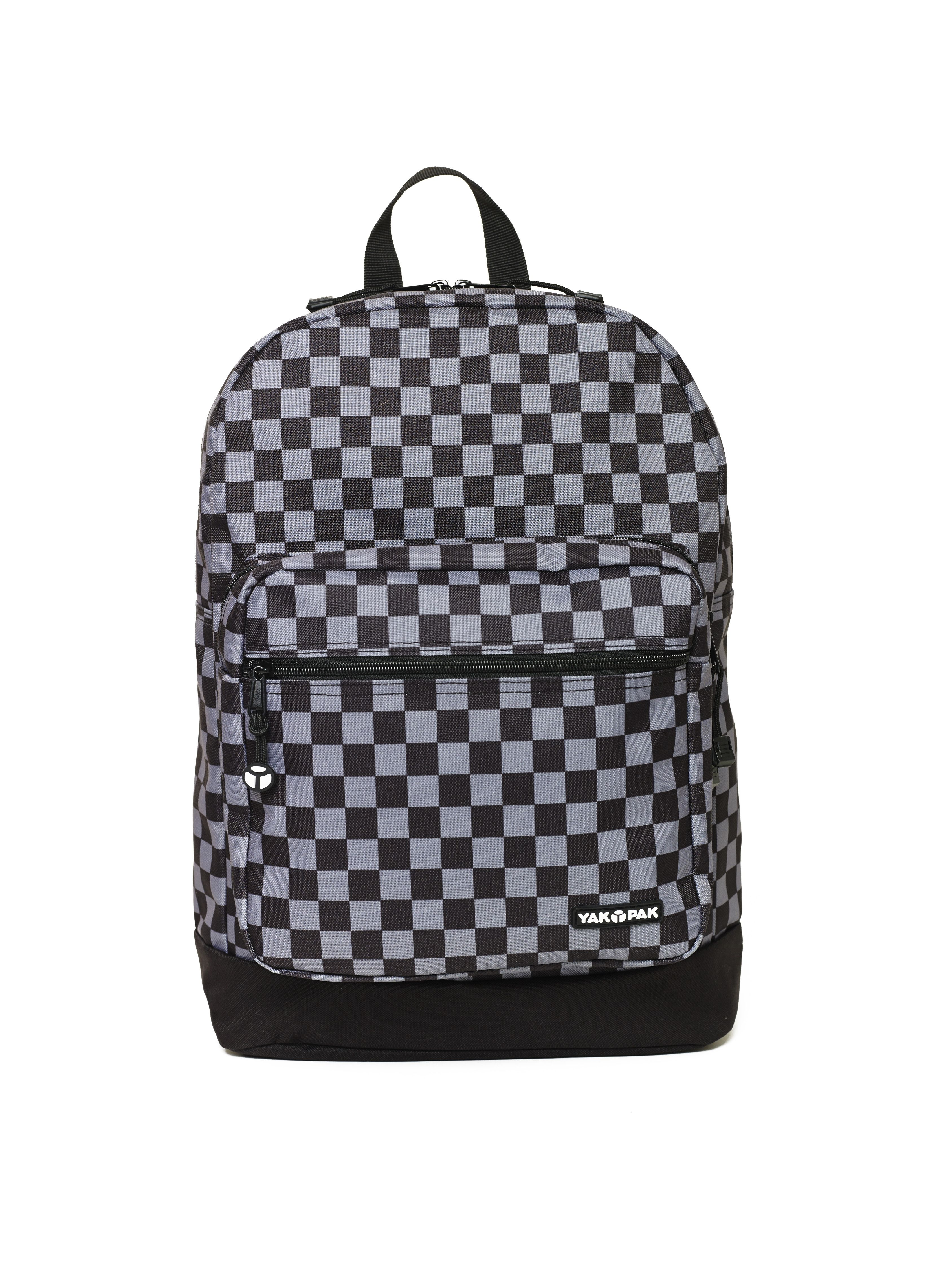 Yak Pak VANDERBILT Backpack - Gray/Black CHECK