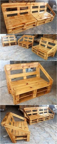 Wood Pallets Furniture Is A Good Idea To Create If There Is A Seating Requirement In The Recycled Pallet Furniture Wooden Pallet Furniture Diy Pallet Furniture