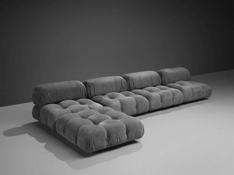 Post Modern Mario Bellini Reupholstered Camaleonda Modular Sofa
