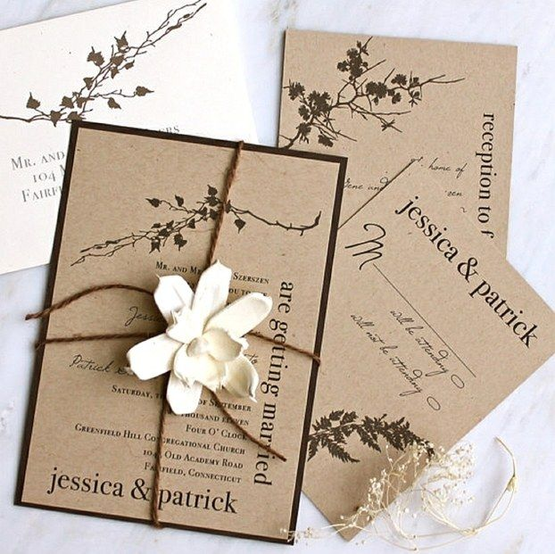 Attractive Papier Fur Einladungskarten Hochzeit #4: Handgemachte Einladungskarten Für Hochzeit - 90 Ideen