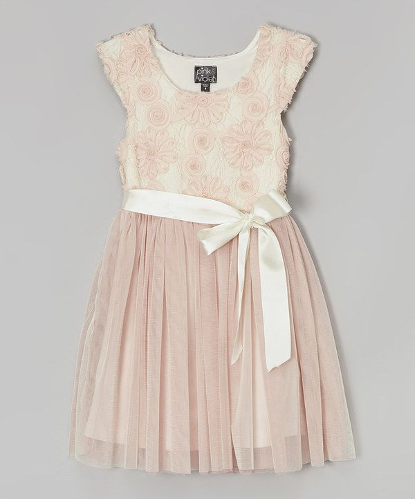 df85237573 Look at this Blush Daisy Cap-Sleeve Dress - Toddler on  zulily today ...