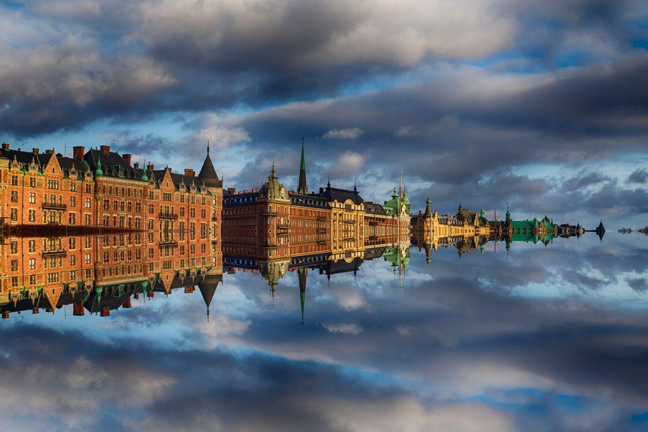 Hafen von Stockholm.