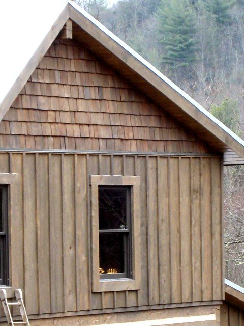 Board and batten cottage click on any of the thumbnails E log siding
