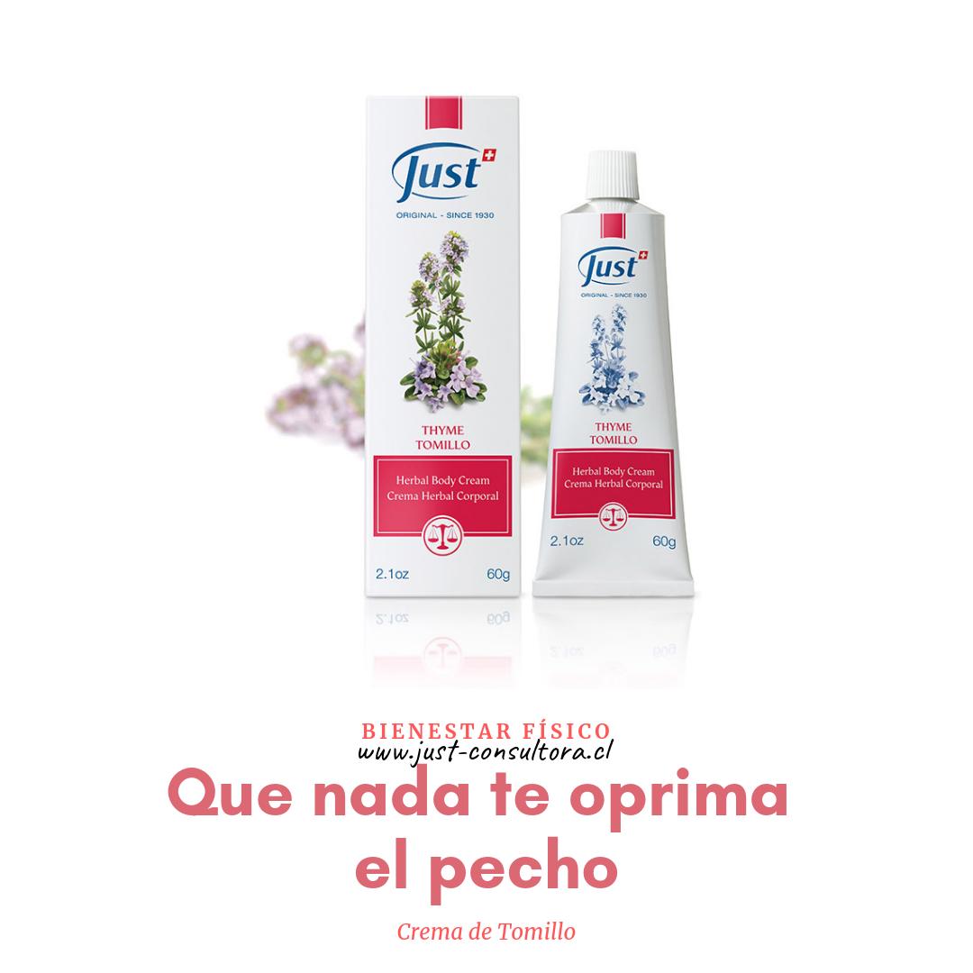 Crema De Tomillo Just Productos Cremas Aromaterapia