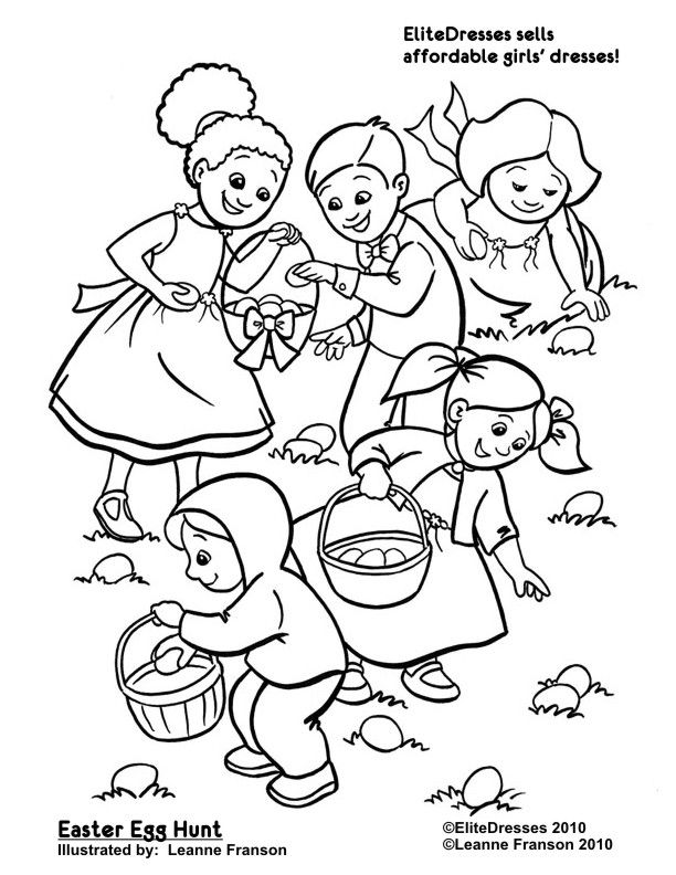 Easter Egg Hunt Coloring Pages Free Printable Coloring Pages