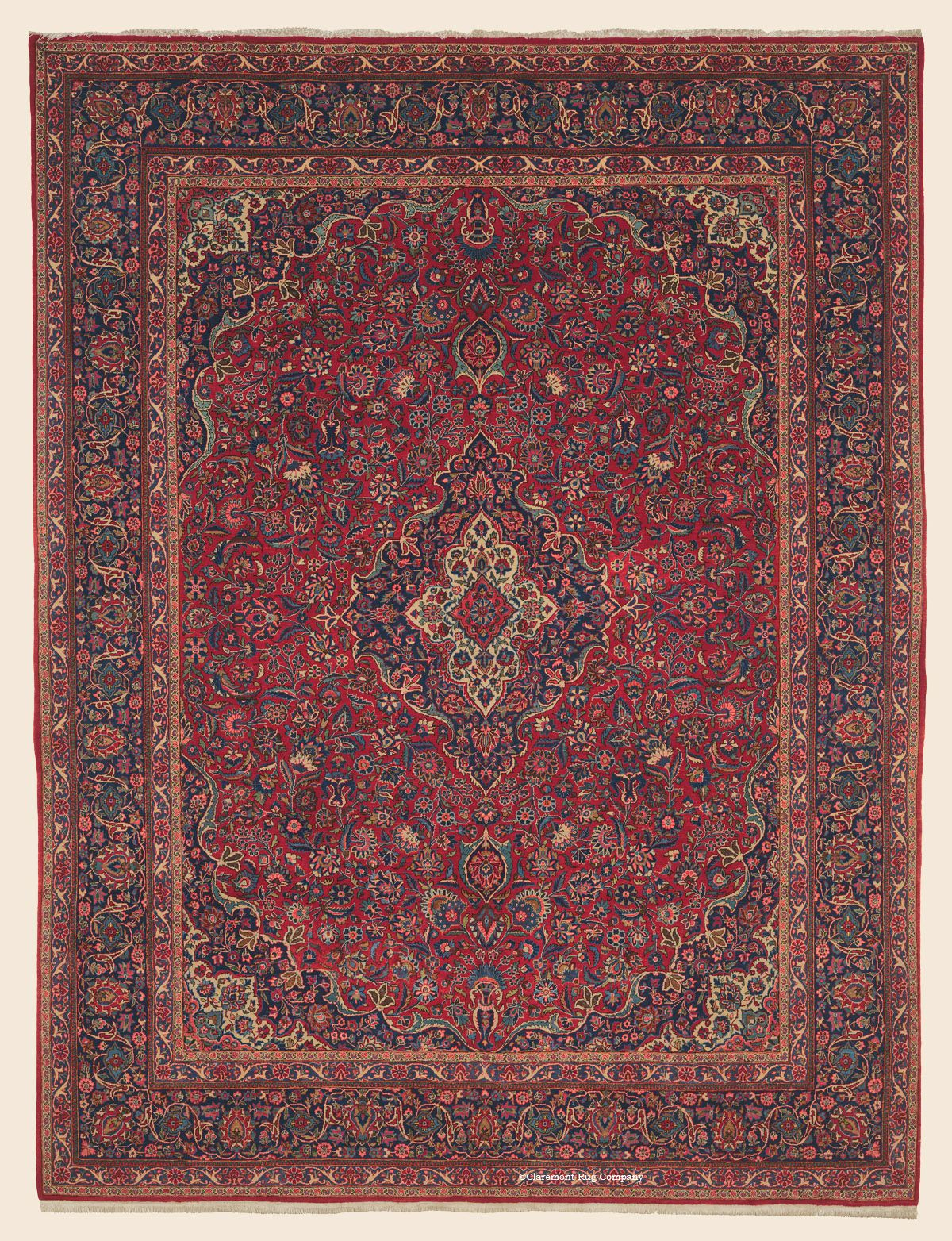 Kashan 9 1 X 11 8 Circa 1930 Price 12 000 Central Persian Antique Rug Claremont Rug Company Claremont Rug Company Antique Oriental Rugs Rugs