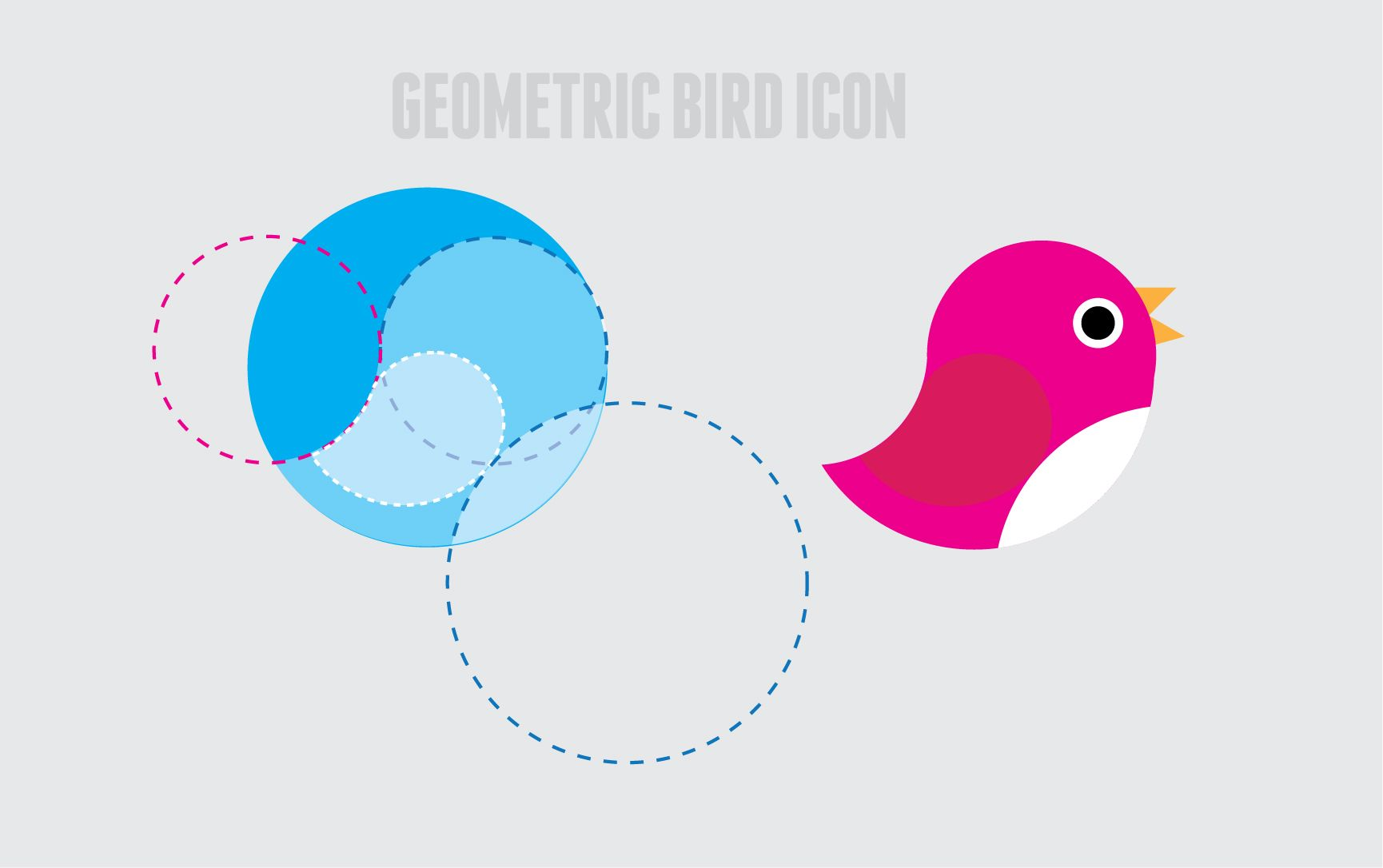 Geometric #flat #ui bird #icon #goldenratio