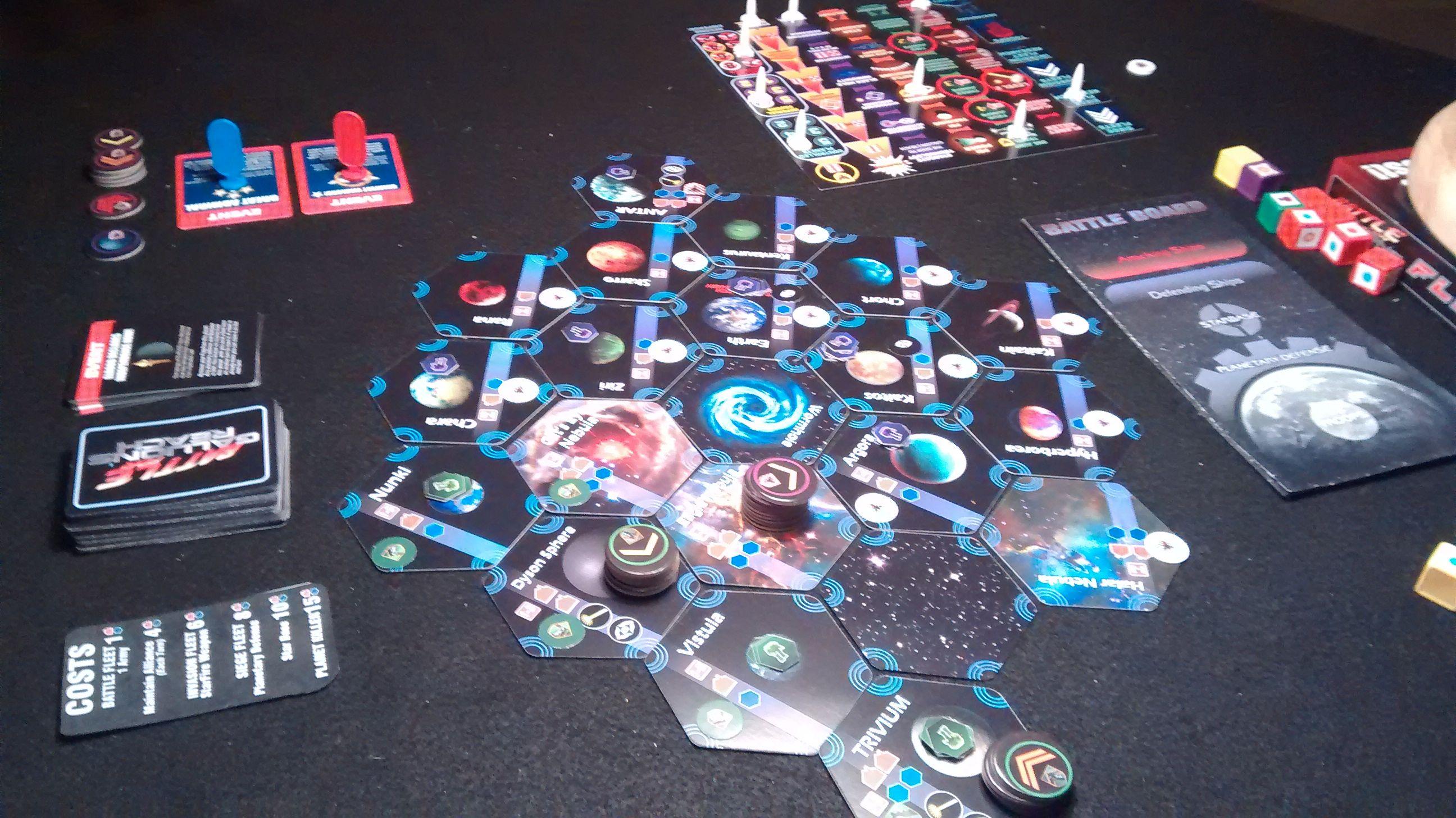 BATTLE FOR GALLION'S REACH FLEETS scifi strategy board