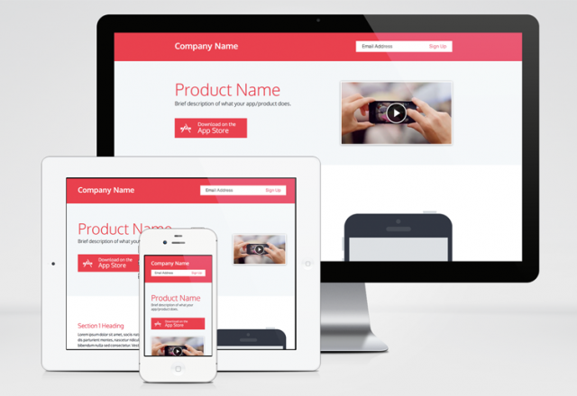 Responsive Product Page Template | Template