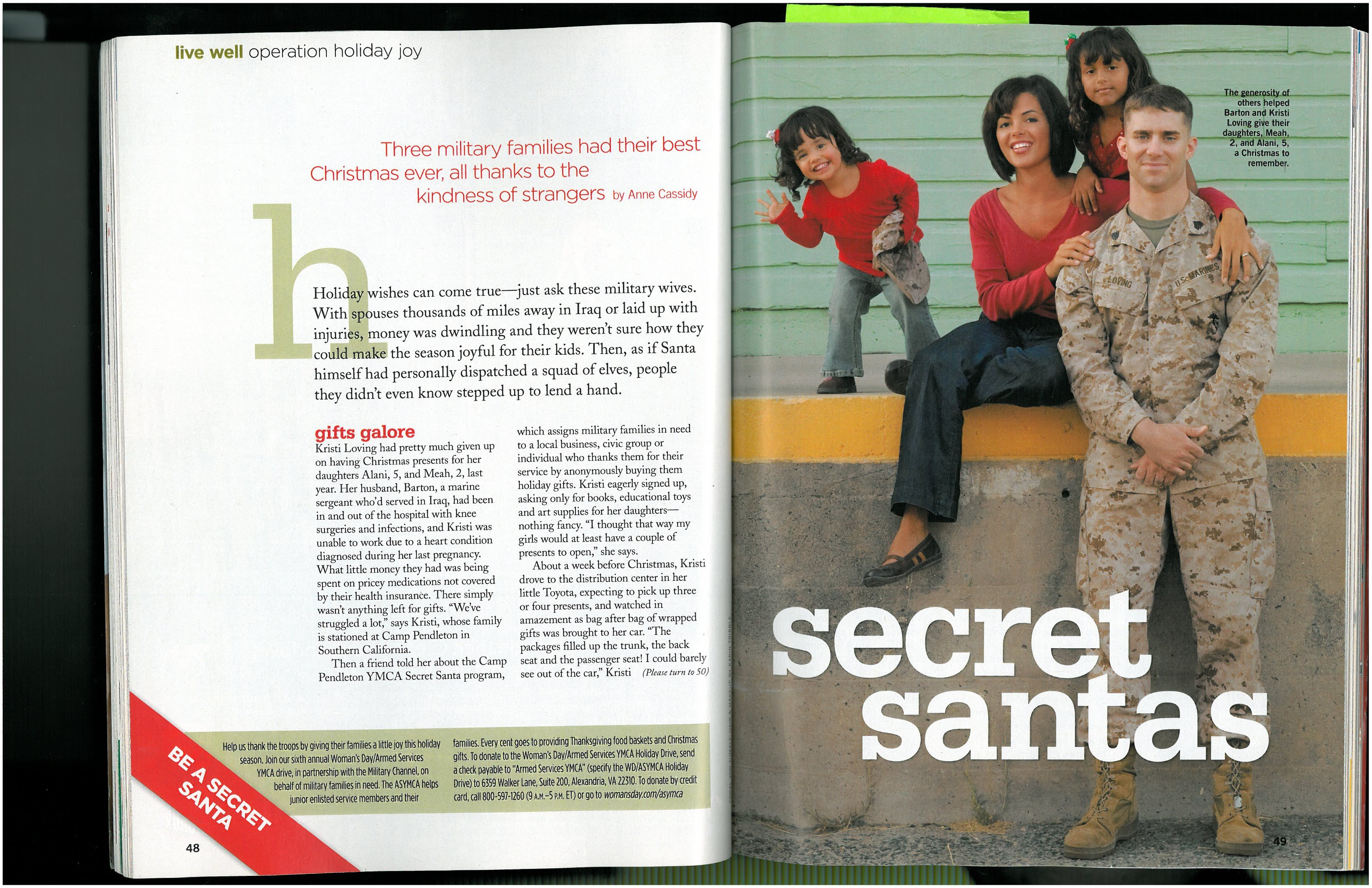 You can be a Secret Santa for Troops this holiday season!