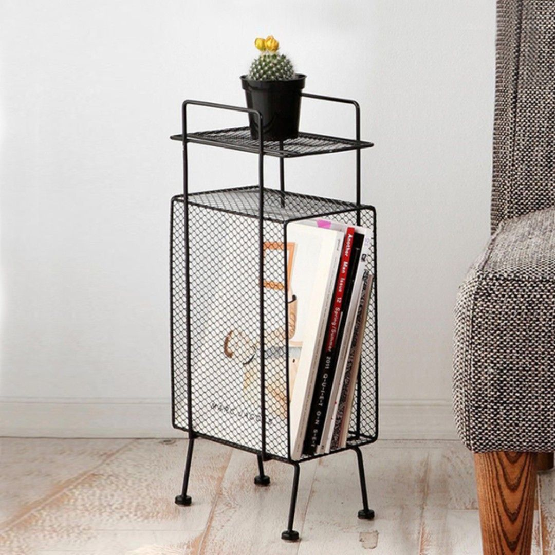 Buy 290 Wire Mesh Side Table 2 Colours In Singapore Singapore Pre Order Only Available In Black And White Dimension Refer T Furniture Mini Storage Decor