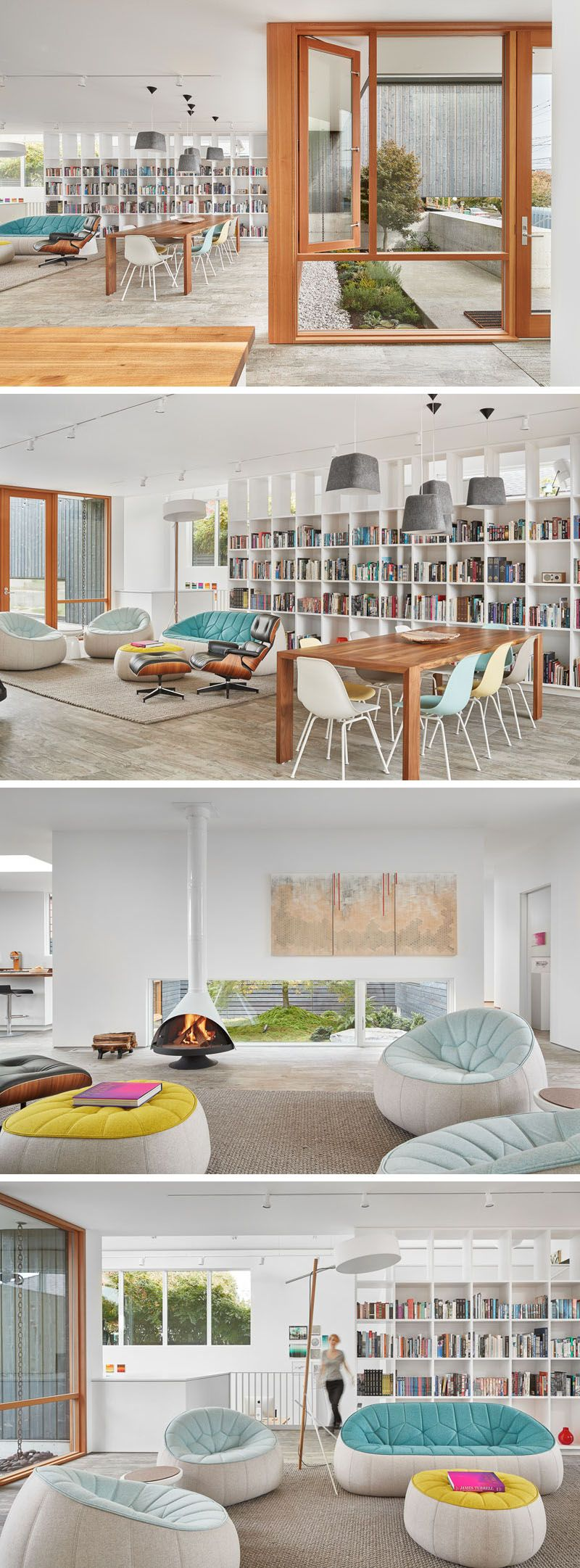 This LightFilled Seattle Home Was Designed With An Art Studio is part of Living Room Chairs Bookshelves - work studio