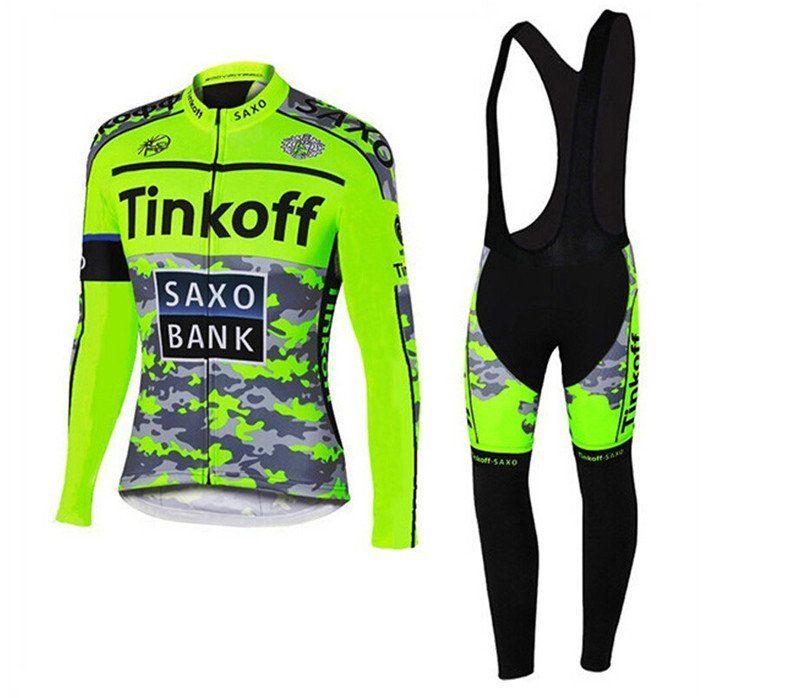 2016 Pro Team Saxo Bank Tinkoff Cycling Kit   Long Sleeves Full Pro Gear 461c4da07