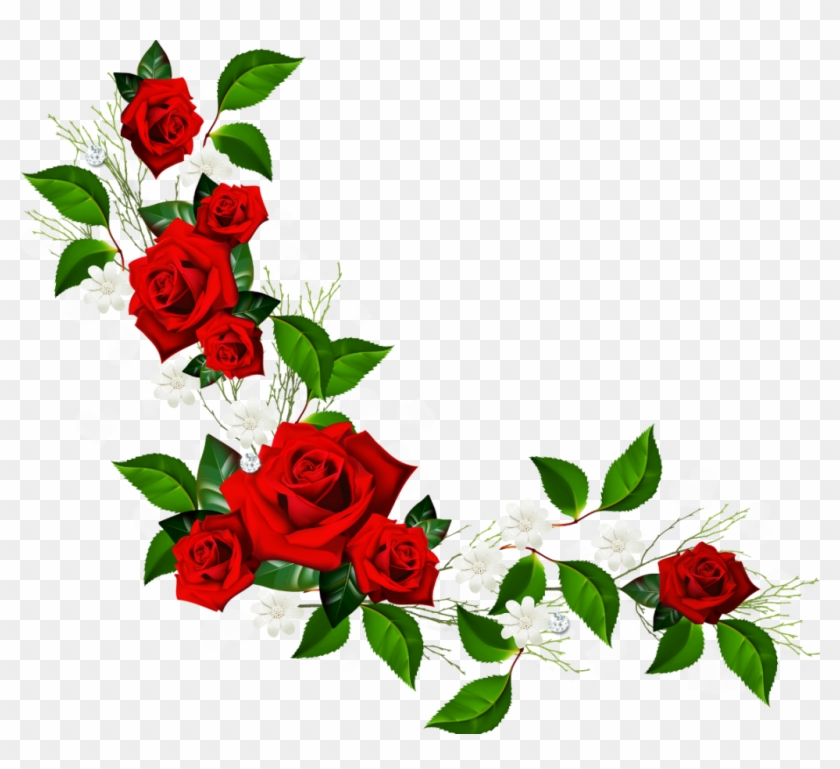 Find Hd Rose Frame Border Png Red Flower Frame Png Transparent Png To Search And Download More Free Transpare Flower Frame Png Flower Frame Rose Flower Png
