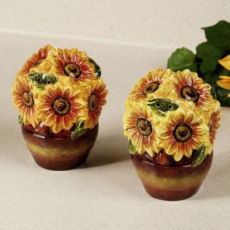 Sunflower Salt and Pepper Shakers | Sunflowers | Pinterest ...