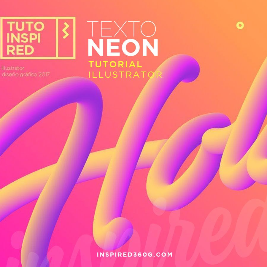 Crea Texto Neon 3d En Illustrator Tutorial Tutoriales De Ilustrador Tutoriales De Diseño Gráfico Logotipos De Diseño Gráfico
