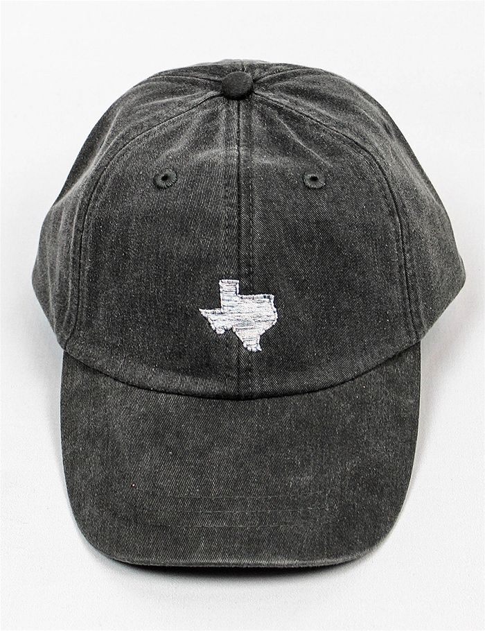72159adebbd Throw on this charcoal hat to show off your Texas pride