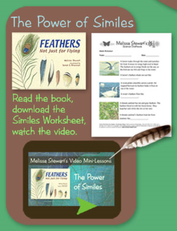 Use this Video Mini-lesson to help students understand the power of similes in their writing. http://www.melissa-stewart.com/sciclubhouse/teachhome/writing_info.html