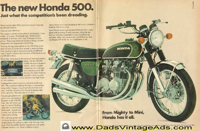 fc69ecd0355f710cfd992217c646d10e 1971 honda cb 500 four motorcycle 2 page ad vintage honda 1971 Honda CB500 Four Diagrams at readyjetset.co