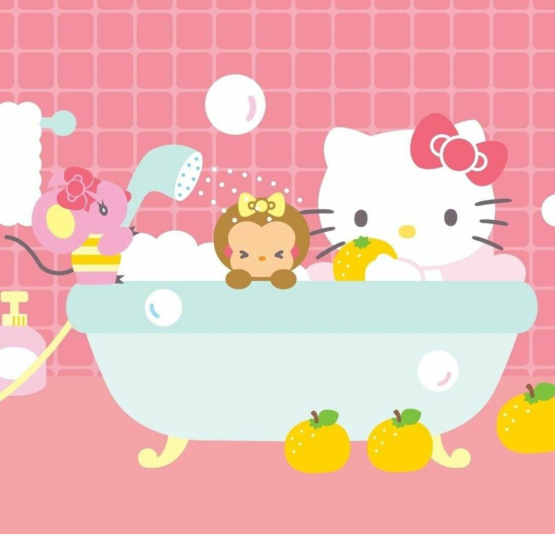Hello Kitty Bath Time Hello Kitty Sanrio Pinterest Hello