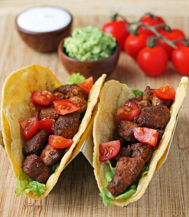 Easy Chicken Tacos - Emily Bites