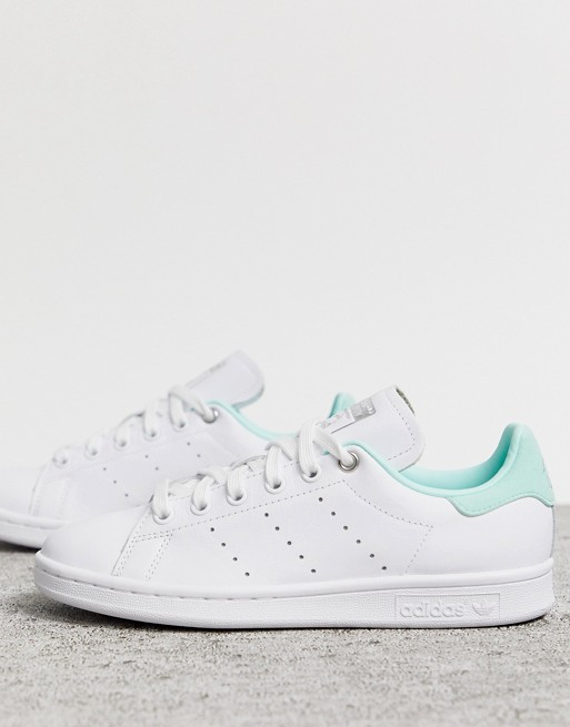 adidas Originals white and green Stan Smith trainers in 2020