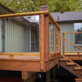 Cedar Deck With Safety Gl Railing Yelp
