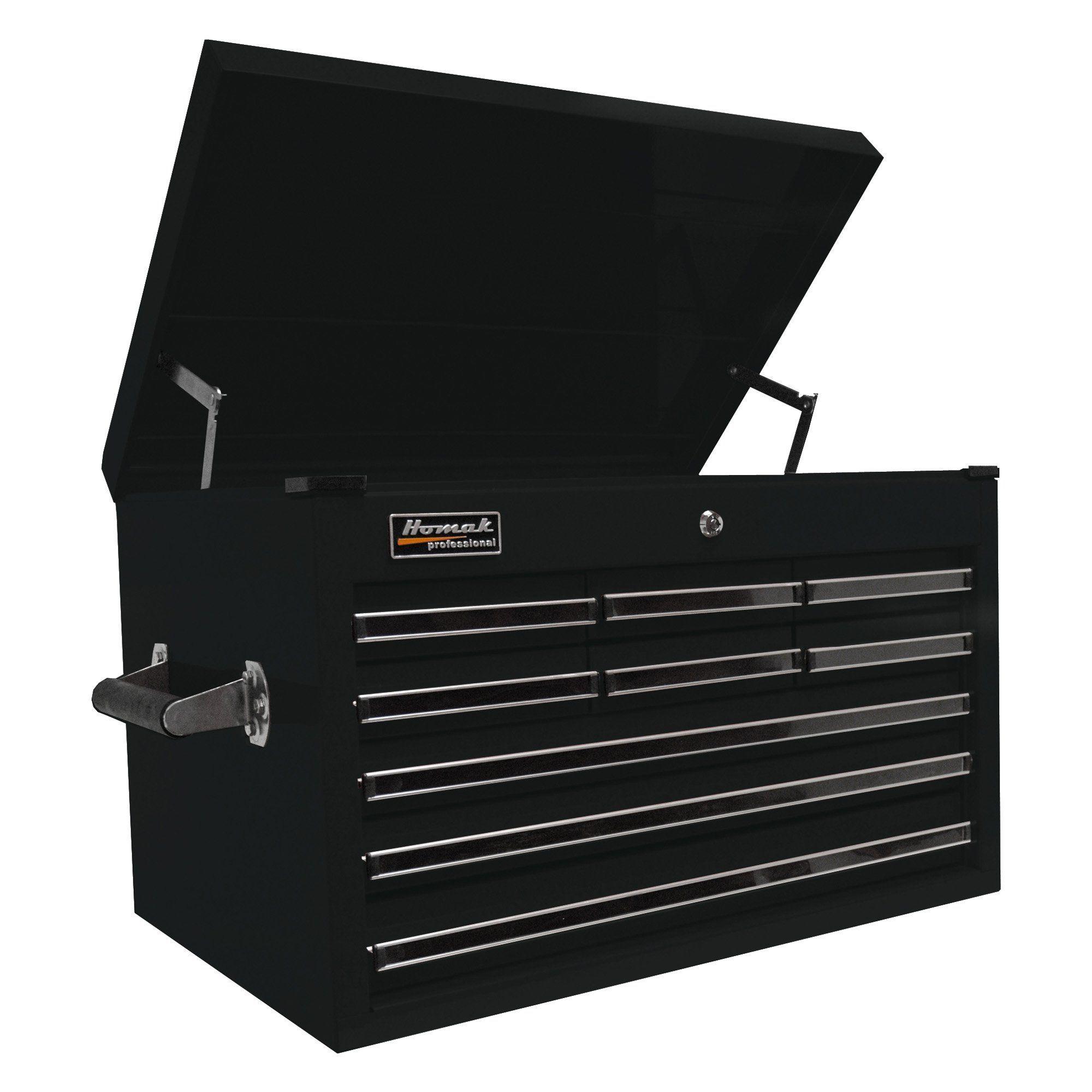 Homak Pro Series 9 Drawer Extended Top Chest - BK02027901