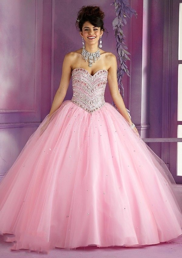 Elegant Light Pink And Blue Tulle Puffy Lace Up Detachable ...