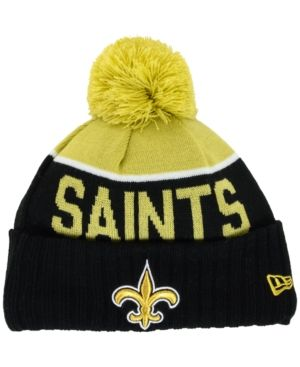 brand new 6ed53 5cfc2 New Era Kids  New Orleans Saints Sport Knit Hat - Black Adjustable