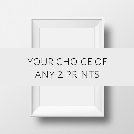 Set Of 2 Prints, Set Of 2 Wall Art, Black and White, Wall Art