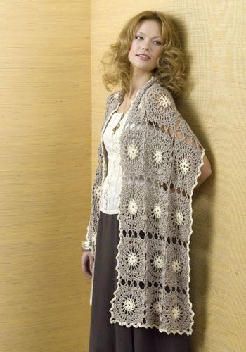 Free shawl/wrap pattern, just amazing. Love the neutrals. Thanks for share, enjoy! xox