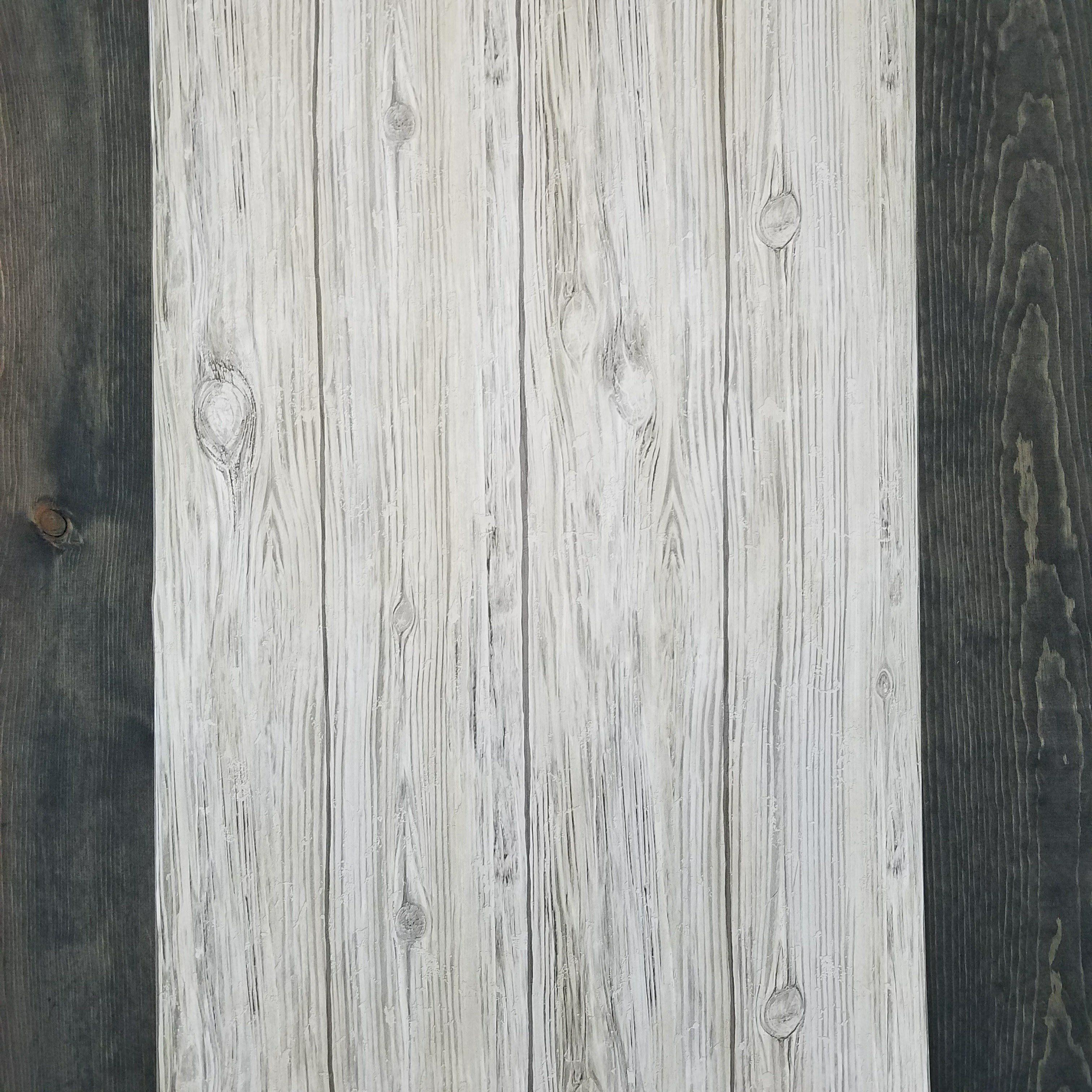 Gray Distressed Shiplap Rustic Wood Peel And Stick Wallpaper Rustic Wood White Wood Wallpaper Peel And Stick Wallpaper